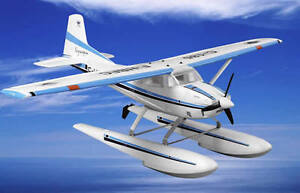 "RC RTF 2.4G 6CH Cessna 185 Skywagon+Float Airplane 59"" wing NEW"