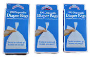Baby diaper disposal bags