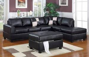 BONDED LEATHER CORNER SOFA WITH FREE OTTOMAN JUST $1099 Bayswater Bayswater Area Preview