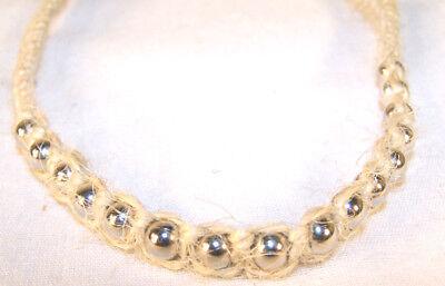 BEADED HEMP NECKLACE W SILVER BEAD hippie jewelry 101 mens womens new beads ](Mens Hippie Jewelry)