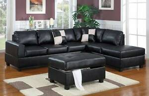 Bonded Leather 5 Seat Sofa FREE Ottoman only $1099 Bayswater Bayswater Area Preview