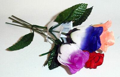 288 x KUNSTBLUMEN ROSEN 4 Farben Plastikblumen Blumen Dekoration ca. 23 cm NEU