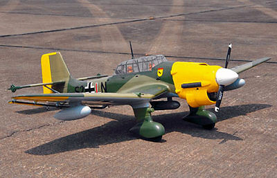 Giant 1/5 Scale JUNKERS JU-87 STUKA scratch build R/c Plane Plans 98 in wingspan