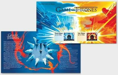 GB 2018 PRE ISSUE GAME OF THRONES POST & GO STAMP FIRE & ICE MNH