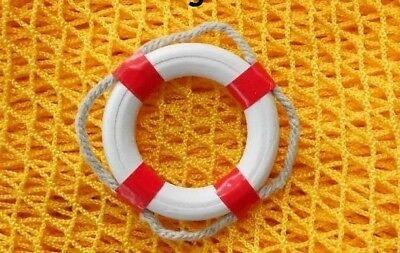 Maritime Deko Mini Rettungsring  Ø: 5 cm rot / weiß, Innen-Ø 3 cm