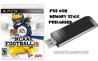 NCAA 14  NCAA 18 - 19 FOOTBALL ROSTERS ONLY PS3 - USB MEMORY STICK