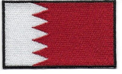 Embroidered BAHRAIN : Flag Iron on Sew on Patch Badge Applique