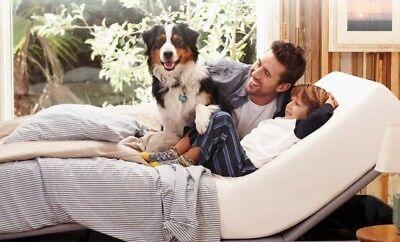 "Dual King L&P Prodigy+ 2.0 adjustable bed, 2 med 12"" gel memory foam mattresses"