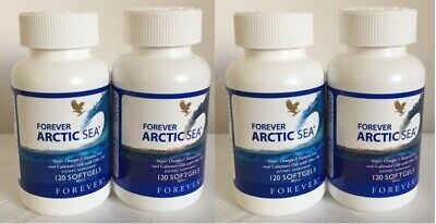 4  FOREVER ARCTIC SEA (120 Softgels) for lower Cholesterol  HALAL  Exp. 2023