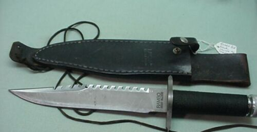 Rambo First Blood Hunting knife  with leather sheath