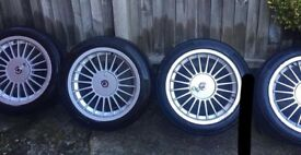 "Set of genuine 17"" Alpina staggered alloys"
