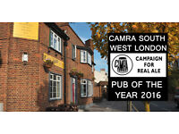 Part-time bar staff required at The Sultan pub in South Wimbledon