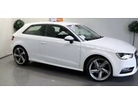 2015 Audi, A3, Hatchback 1.6 Tdi ultra sport 6 sp Manual 3 doors P/white f/s h L/ins&Tx