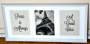 Paris France Art Framed Specialty Design Eiffel Tower Display