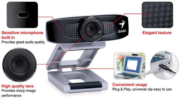 PC VGA webcam (face cam 320)(pre-owned)works for windows xp/ windows 7/pc mac/& LINUX.