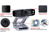 PC VGA webcam (FACE CAM 320) BOXED SEALED NEW WORKS FOR WINDOWS XP WINDOWS 7/PC MAC/& LINUX.