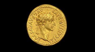 ANCIENT ROMAN TIBERIUS GOLD AUREUS