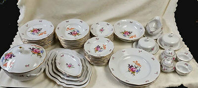 Bohemia Czechoslovakia China 65Pc Dinnerware Set, Service for 12 (Brand New)