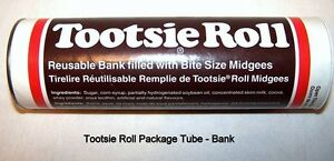 Vintage Canadian Tootsie Roll Bank, like new,