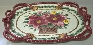 Fitz and Floyd Father Large Christmas Poinsettia Platter