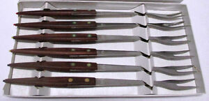 6 Fonduegabeln (Forks) vintage Imperial International Co. German