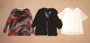 Tops sz 2X, 22  / Dress sz 2X