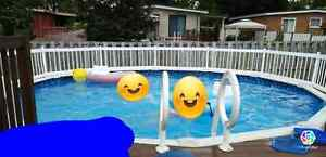 18ft Pool with Deck