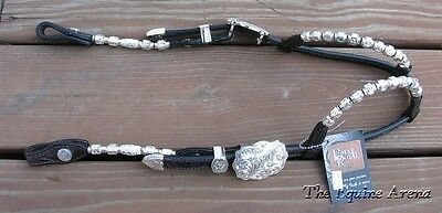 (Western Double Ear Silver Show Bridle - Dark Oil - Double S by Billy Royal  )
