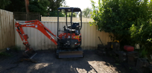 Excavator hire 1.7 tonne