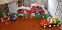 Ferme animaux Little People F- Price +gros tracteur, 30 mcx, 30$
