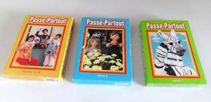 PASSE-PARTOUT, 3 COFFRETS DE 5 DVD, VOLUME 1 - 2 - 4