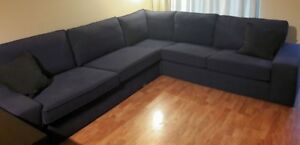 KIVIK , blue 5 seat sectional sofa