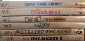 Wii games - some $5, some $10