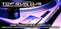 Top Gun Djs: weddings/corporate/any size budget/last sec booking