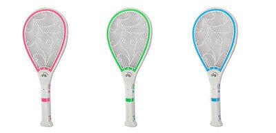 Racchetta elettrica rotonda anti zanzare ricaricabile paletta fulmina insetti