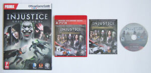 PS3 - INJUSTICE GODS AMONG US ULTIMATE EDITION + PRIMA GUIDE
