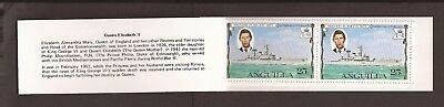 Anguilla 1977. Scott 271-274 (MNH) Silver Jubilee booklet with selvage