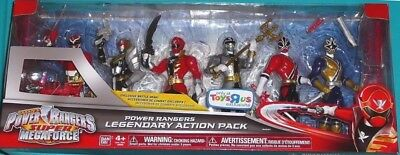 Power Rangers Super Megaforce Action Pack Robo Knight Silver Gold Red Legendary
