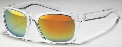 GD Sonnenbrille Wayfarer Transparent / Orange Mirror verspiegelt Händler