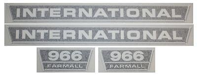 International 966 Vinyl Decal Set