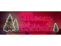 7 foot Long and 2.5 High Christmas Sign In Perfect Working Order