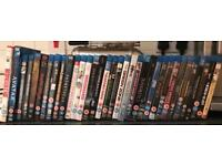 34 blu-ray movies. Sold as a job lot. Some not even used.