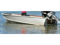 WANTED Aluminium boat 18 or 16 foot A.E.Freezer Workmaid