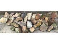 Small garden rockery stones