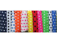 Fabric SALE materials spots stripes cotton haberdashery crafts sewing supplies