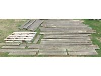 Quantity of 44 x 148mm x 23mm Used Decking Wood Timber Planks nr Brighton