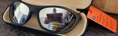 Imported Sport Sunglasses Black & Gray Frames 100% UVA UVB MSRP $29.99