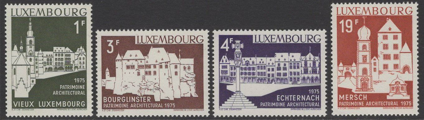 LUXEMBOURG SG943/6 1975 EUROPEAN ARCHITECTURAL HERITAGE YEAR MNH