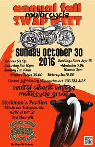 Central Alberta Vintage Motorcycle Group - Fall Swap Meet