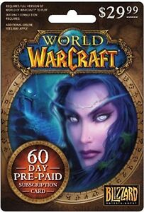 WoW 60 day game time card